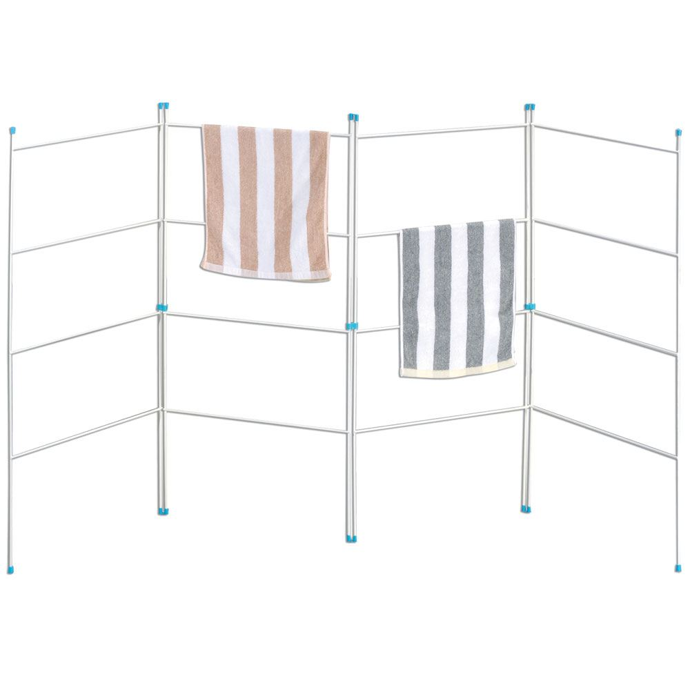 medium resolution of 4 fold airer clothes drying rack folding laundry horse holder by home discount