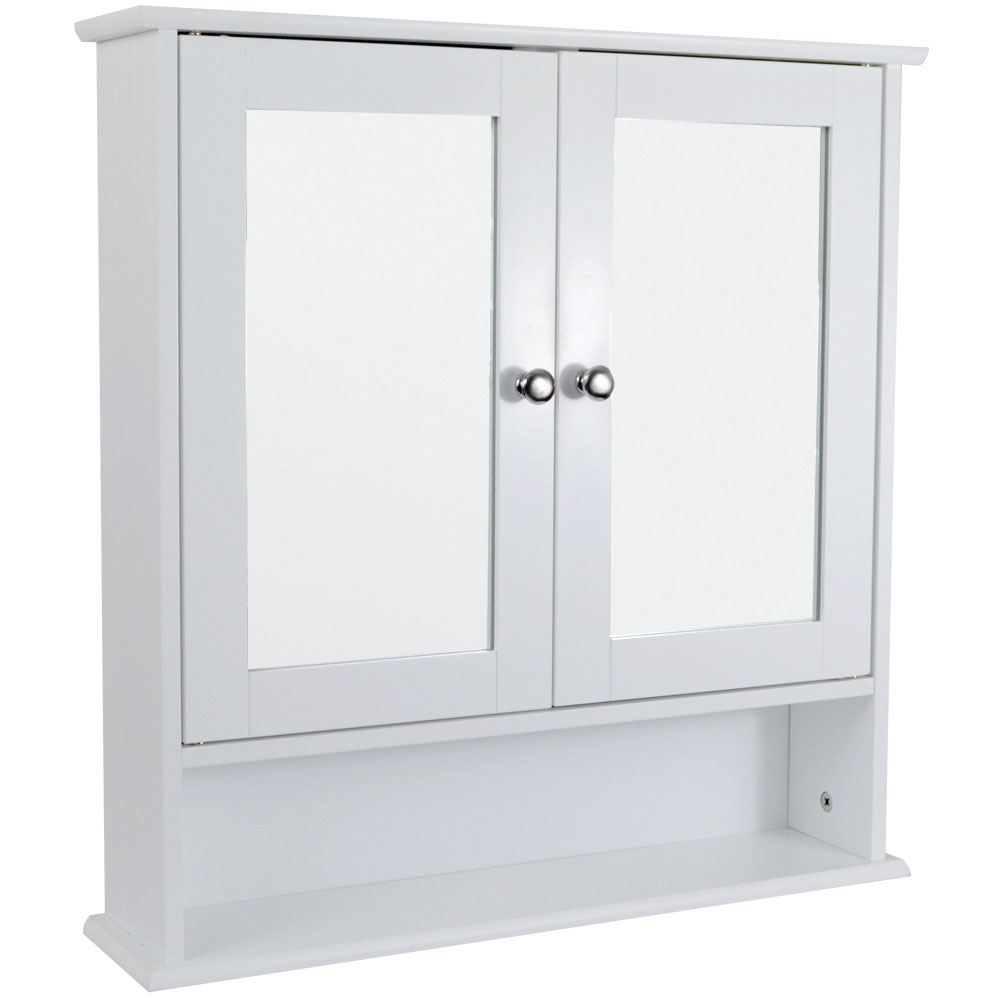 Bathroom Cabinets Single Double Doors Mirrored Wall