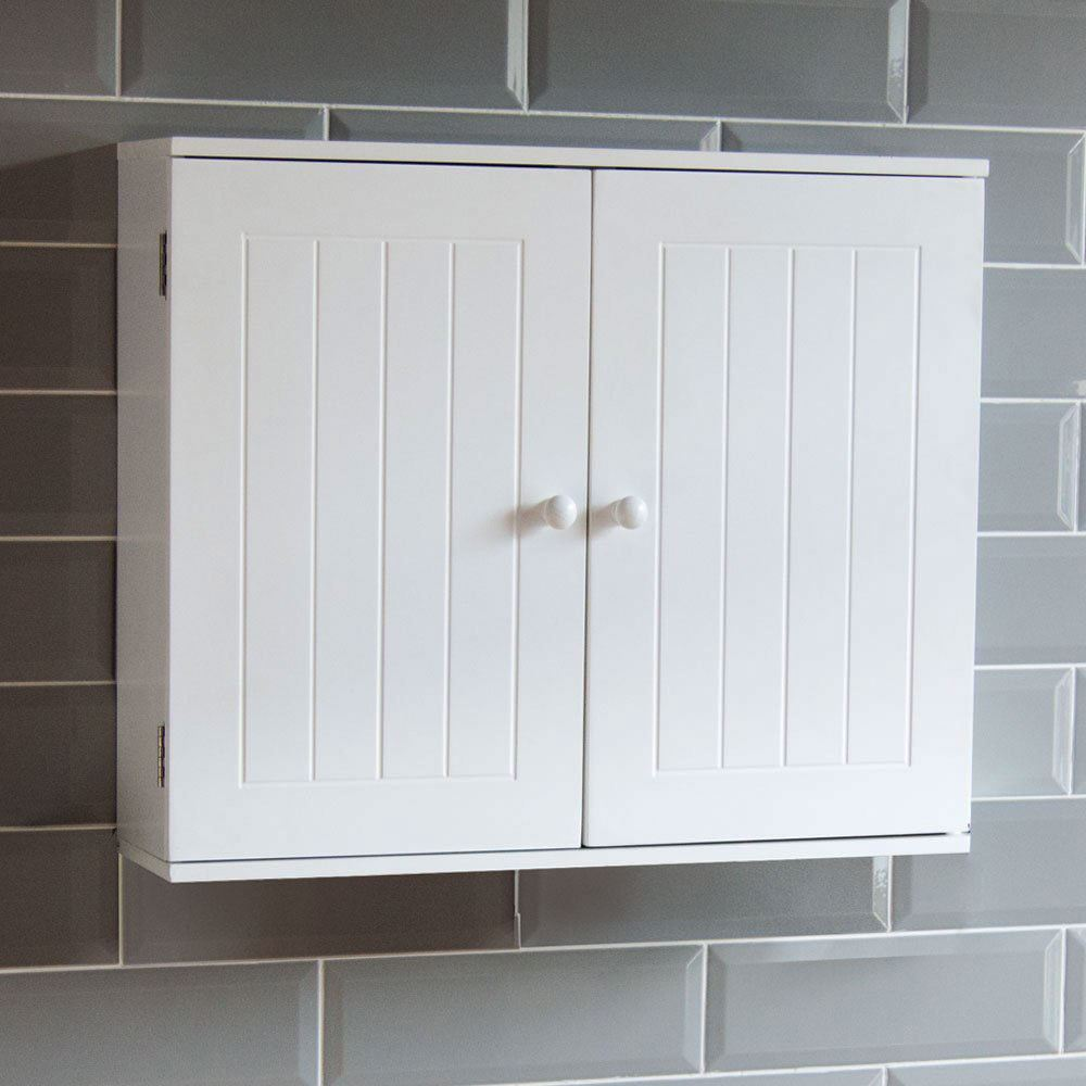 Bathroom Cabinet Single Double Door Wall Mounted Tallboy