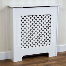 Radiator Cover Traditional White Small Mdf Classic Wood