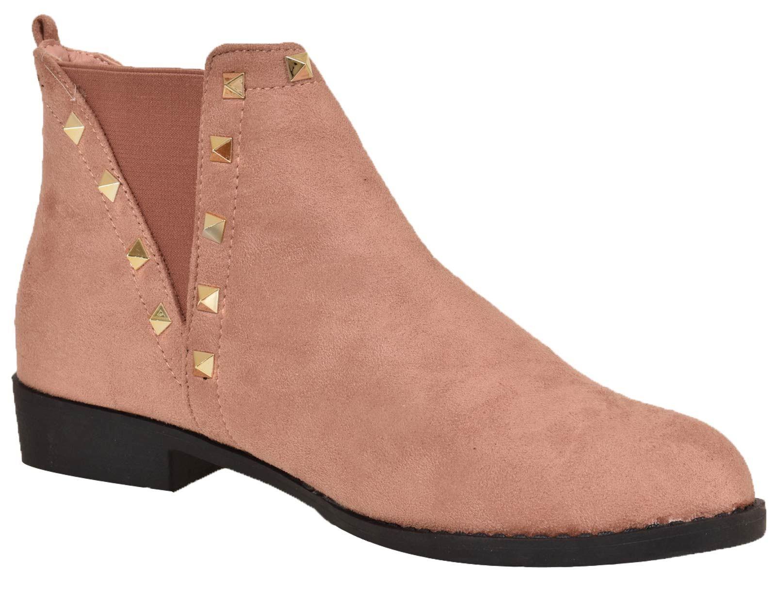 Femmes: chaussures Femmes Bottines Chelsea D'Hiver Femme Bottes Style Motard Talon Bloc Filles Chaussures zamilacindia.com