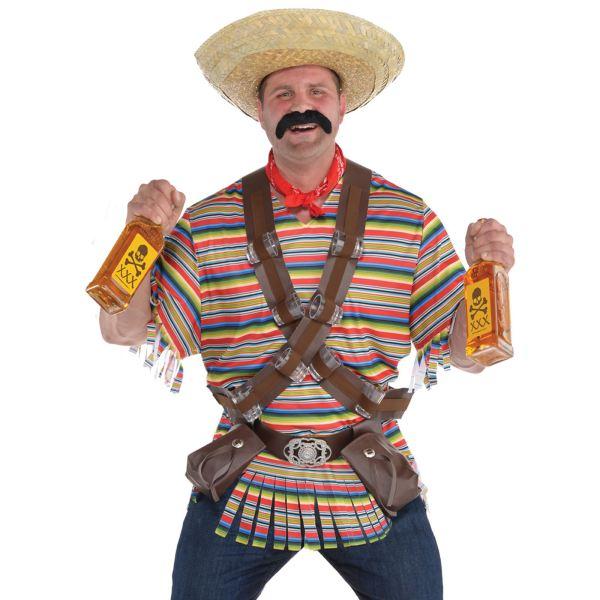 Adult Mens Mexcian El Tequila Bandito Fancy Dress Costume