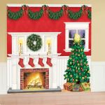 Details About 3 65m Christmas Hearth Fireplace Giant Wall Room Decorating Scene Backdrop