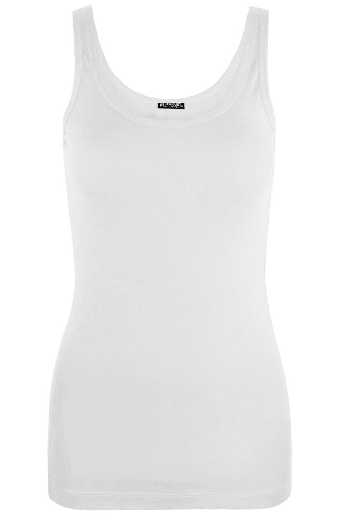 Womens Ladies Sleeveless Tank Tops Casual Cotton Vests