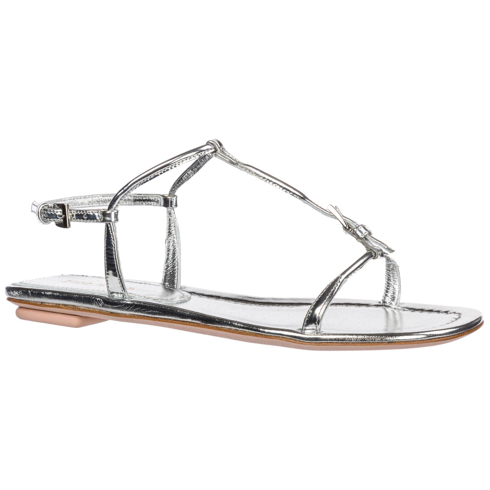 T Bar Sandals Prada 1x557b 3au1 F Argento