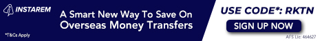 Save On Overseas Money Transfers | Use Code*: RKTN | Sign Up Now *T&Cs Apply