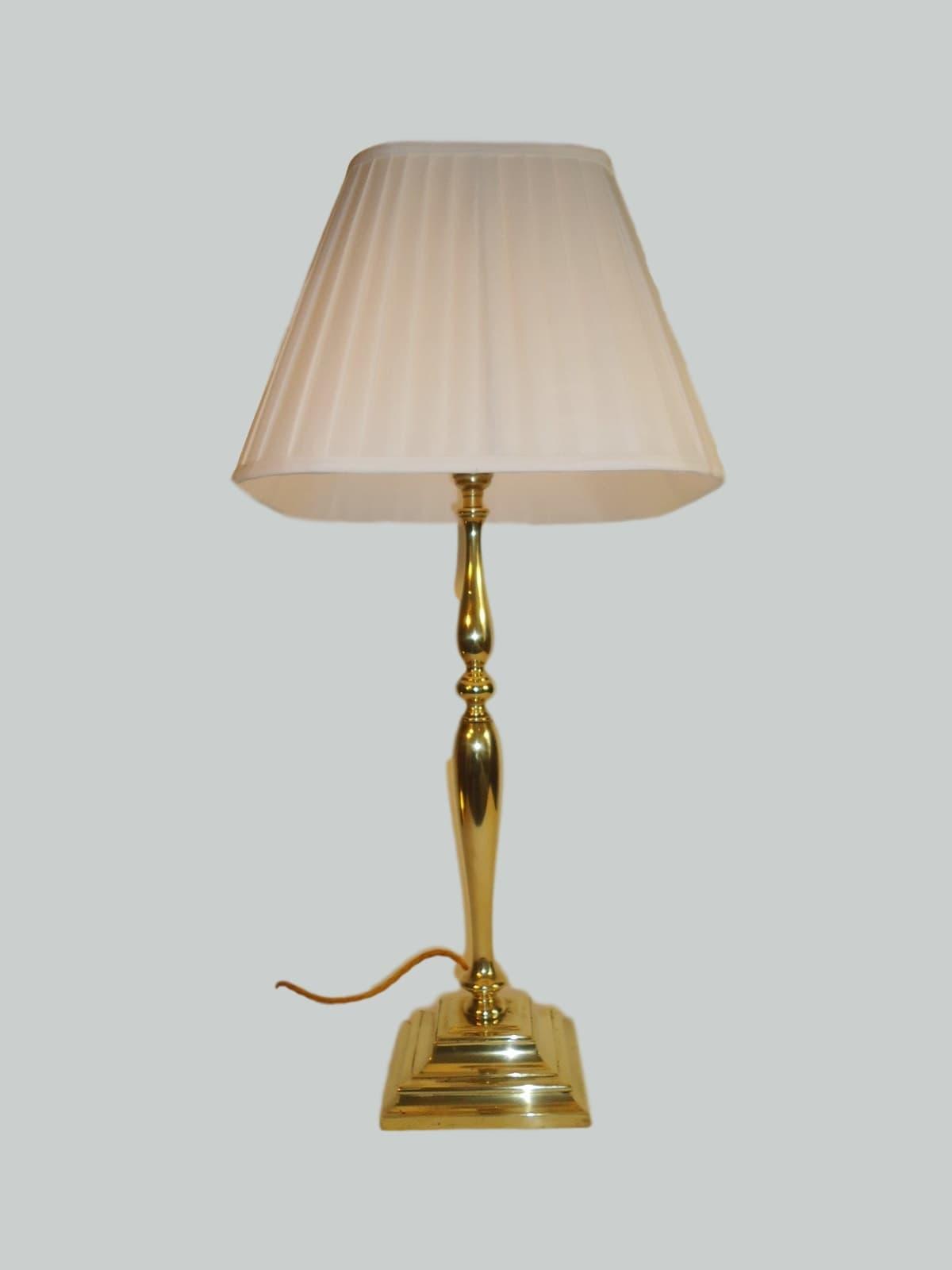 Large Edwardian Brass Table Lamp Circa 1910 Jones Antique Lighting