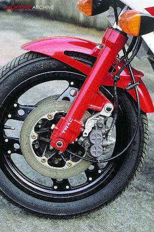 Honda VF motorcycle front end