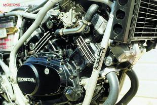 Honda VF motorcycle engine