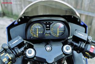 Honda VF motorcycle dashboard