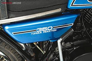 Yamaha RD350B 1974 clasic two stroke Japanese motorcycle