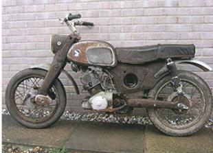 Honda C77 motorcycle restoration