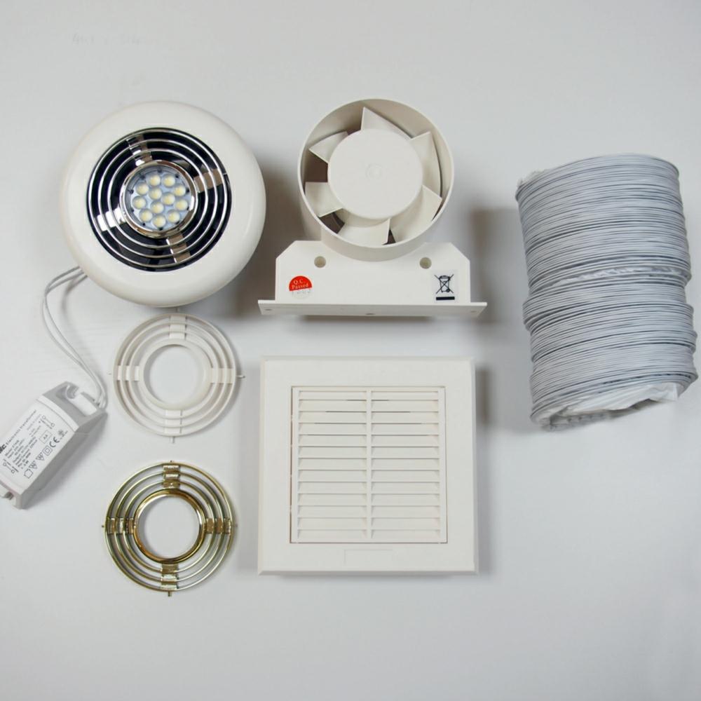 Bathroom LED Shower Fan Light With Timer