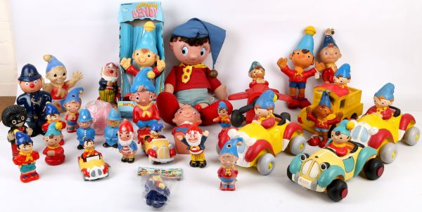 Collection Of Noddy Big Ears And Characters Bendy Toys Soft Vinyl Including