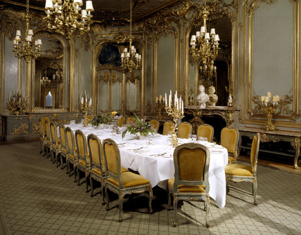 The French Dining Room With Rococo Boiseries Panelling