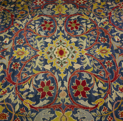 Detail of the handknotted carpet by William Morris