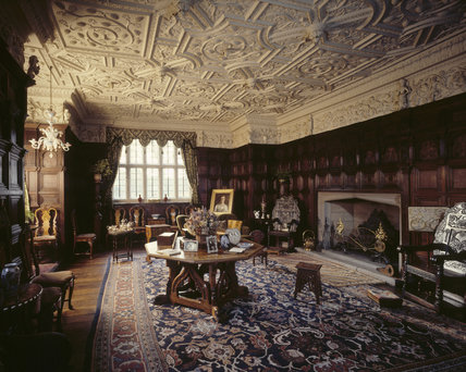 The Drawing Room at Gawthorpe Hall showing Jacobean panelling c1604 Gawthorpe Hall at National