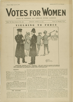 Cover of the newspaper Votes for Women 1913 at Museum of