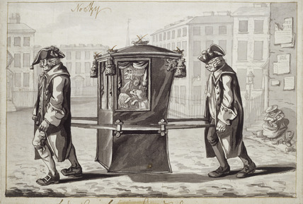 A sedan chair 18th century by Robert Dighton at Museum of