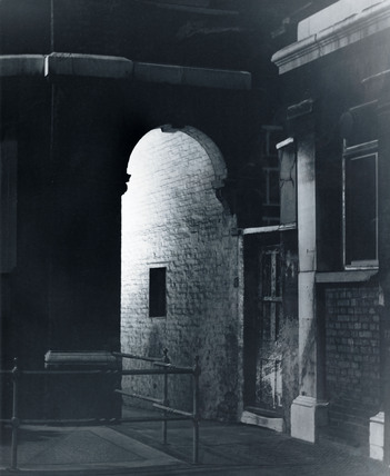 Dark street in the East End Circa 1900 at Museum of London