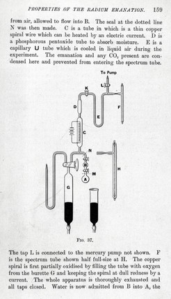 Apparatus used in an experiment to monitor the decay of