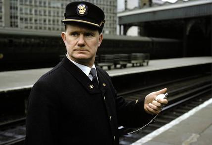 Station Inspector wearing new British Rail uniform