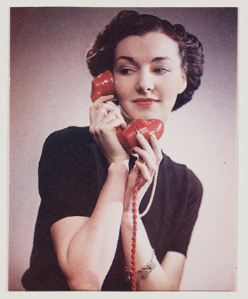 Woman on the telephone c 1940s at Science and Society