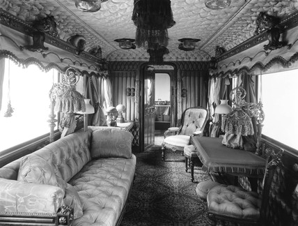 Inside Queen Victorias drawing room on the Royal Train 9