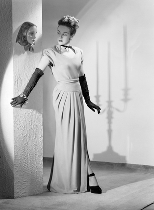 Woman In An Evening Gown 1950 By Photographic