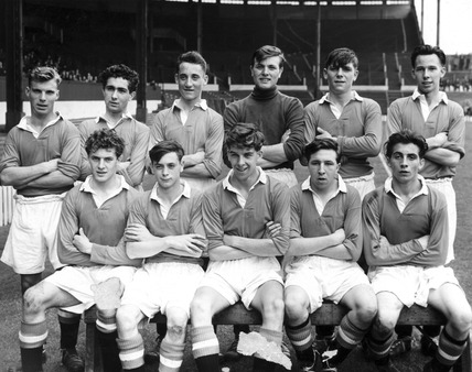 Manchester Uniteds youth team England c 1950s at