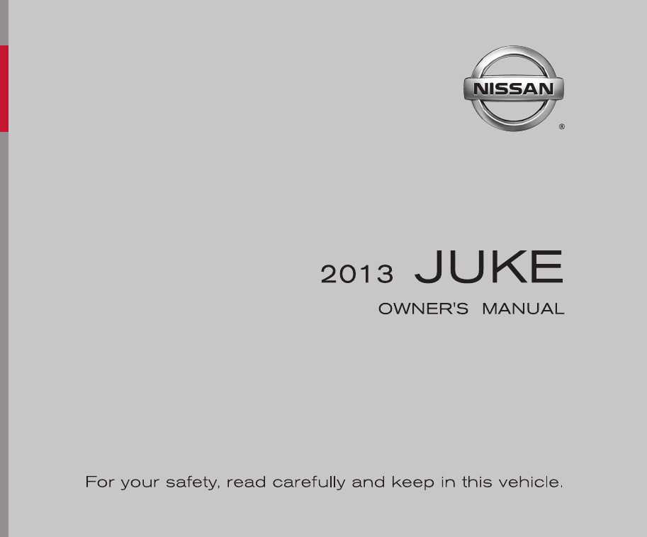 2013 Nissan Juke Owners Manual PDF
