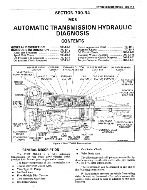 small resolution of speedo 700r4 wiring diagram electronic