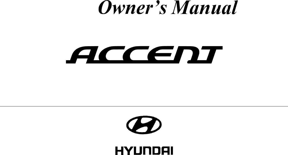 2008 Hyundai Accent Owners Manual PDF