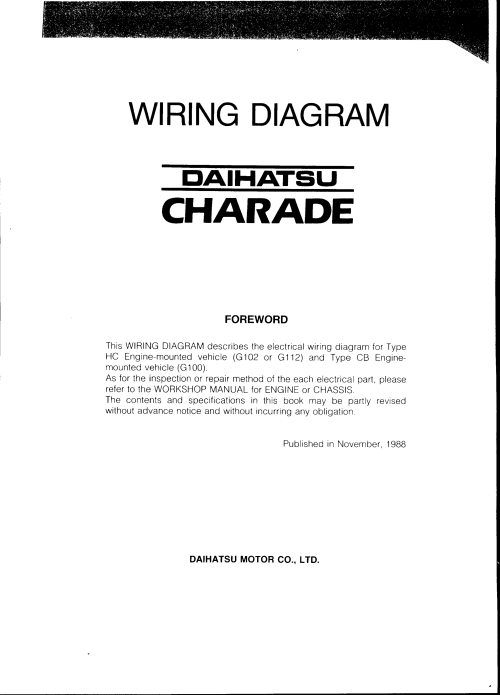 small resolution of page 1 daihatsu charade 1988 misc documents wiring diagram pdf daihatsu wiring diagrams