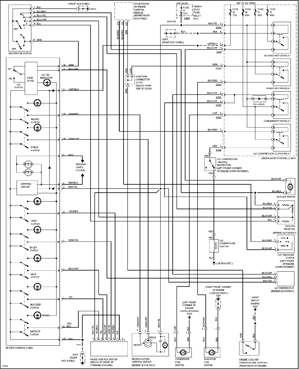 medium resolution of 1997 honda civic wiring diagram