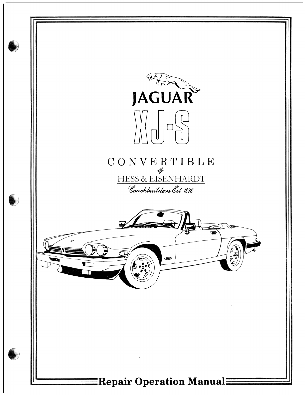 Jaguar XJS Workshop Manual PDF