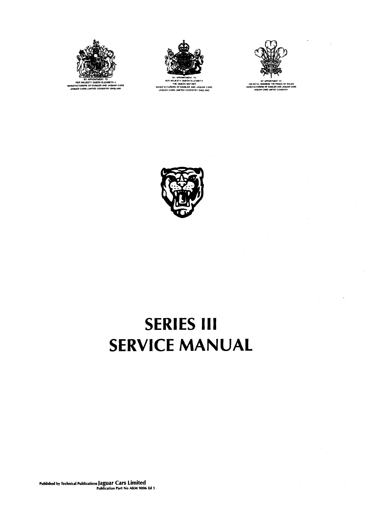 Jaguar XJ12 Workshop Manual PDF
