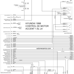 Hyundai Accent Wiring Diagram Yaskawa V1000 1998 Misc Document Pdf