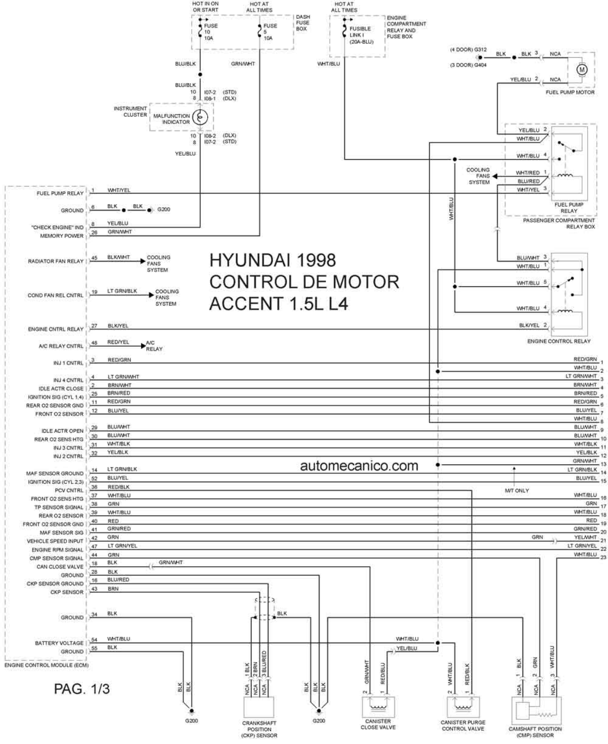 hight resolution of hyundai accent 1998 misc document wiring diagram pdf 1998 hyundai excel radio wiring diagram hyundai excel wiring diagram 1998