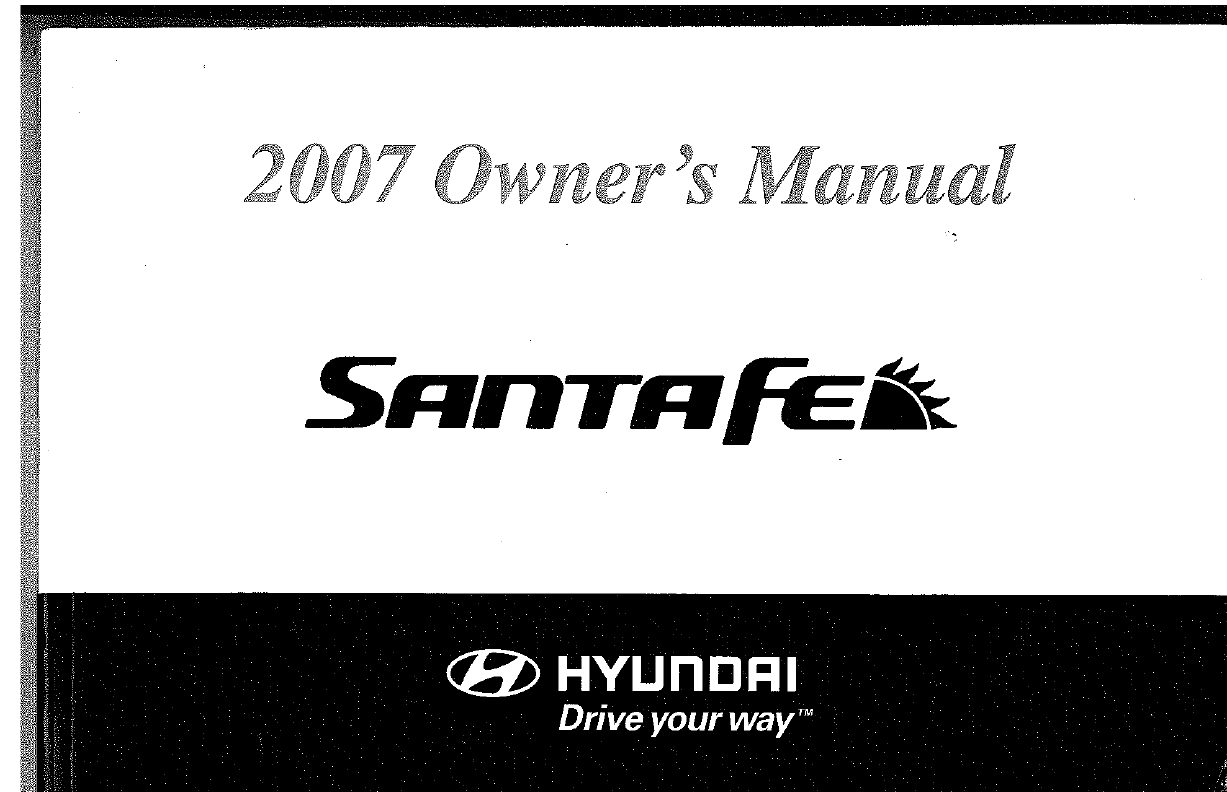 Hyundai Santa Fe 2007 Owners Manual PDF