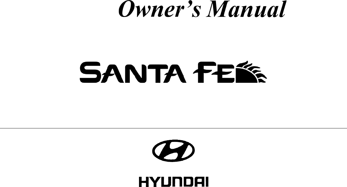 Hyundai Santa Fe 2005 Owners Manual PDF