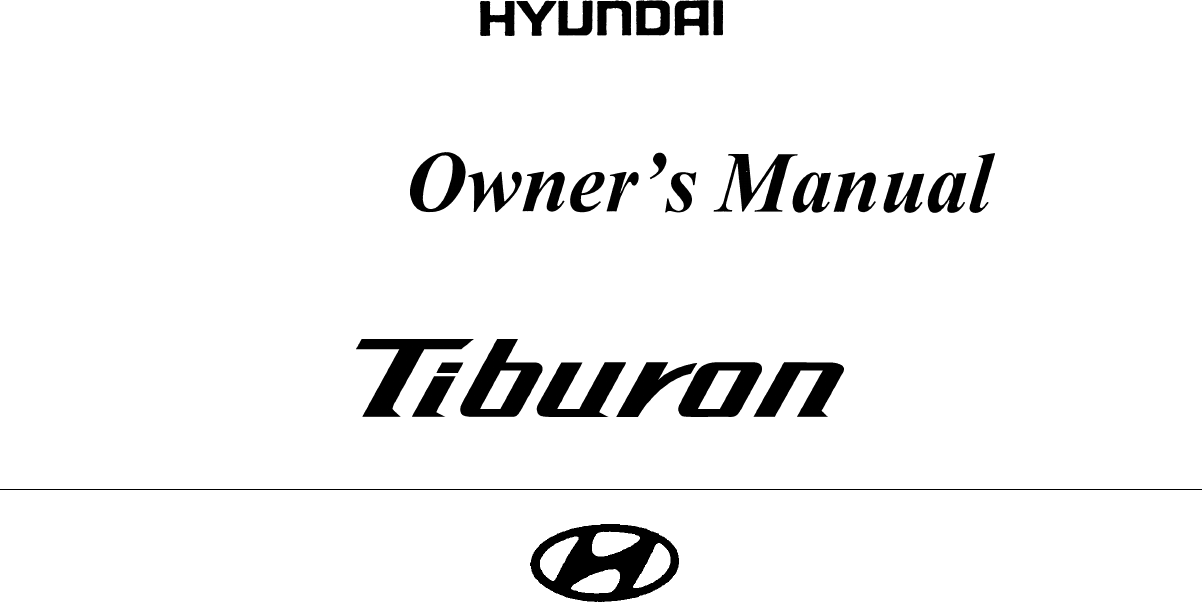 Hyundai Coupe 2005 Owners Manual PDF