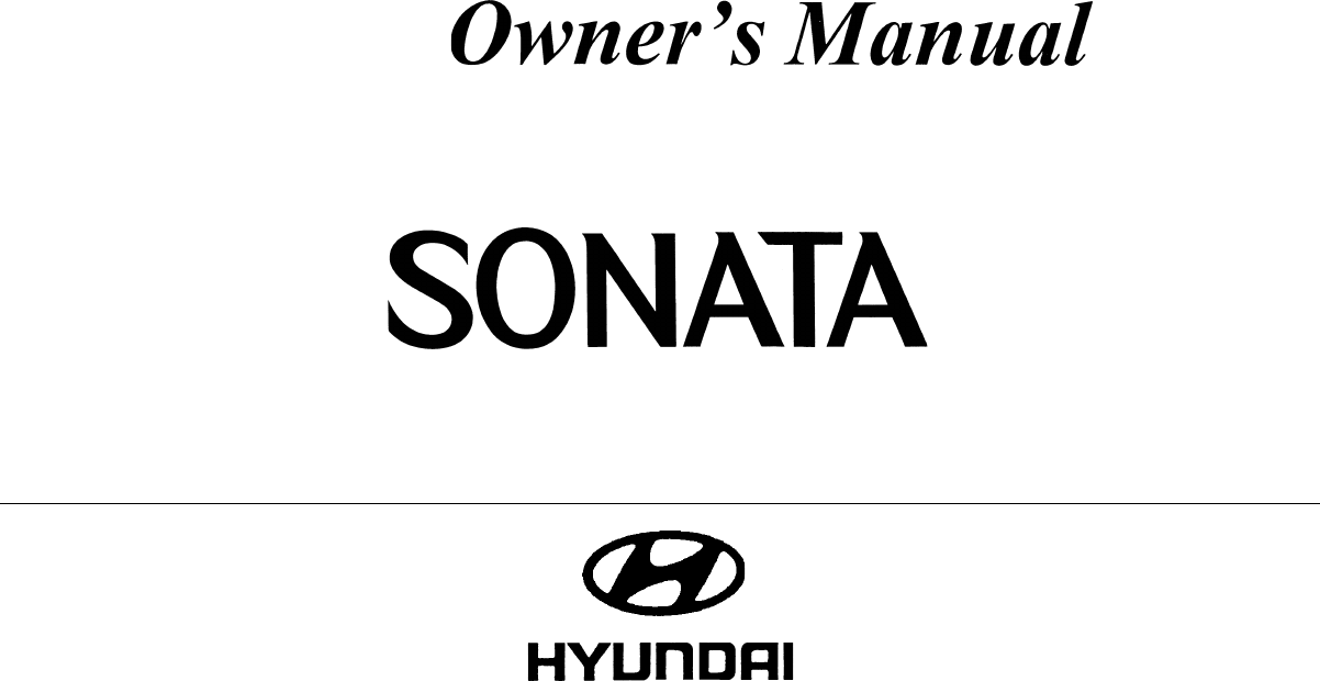 Hyundai Sonata 2004 Owners Manual PDF