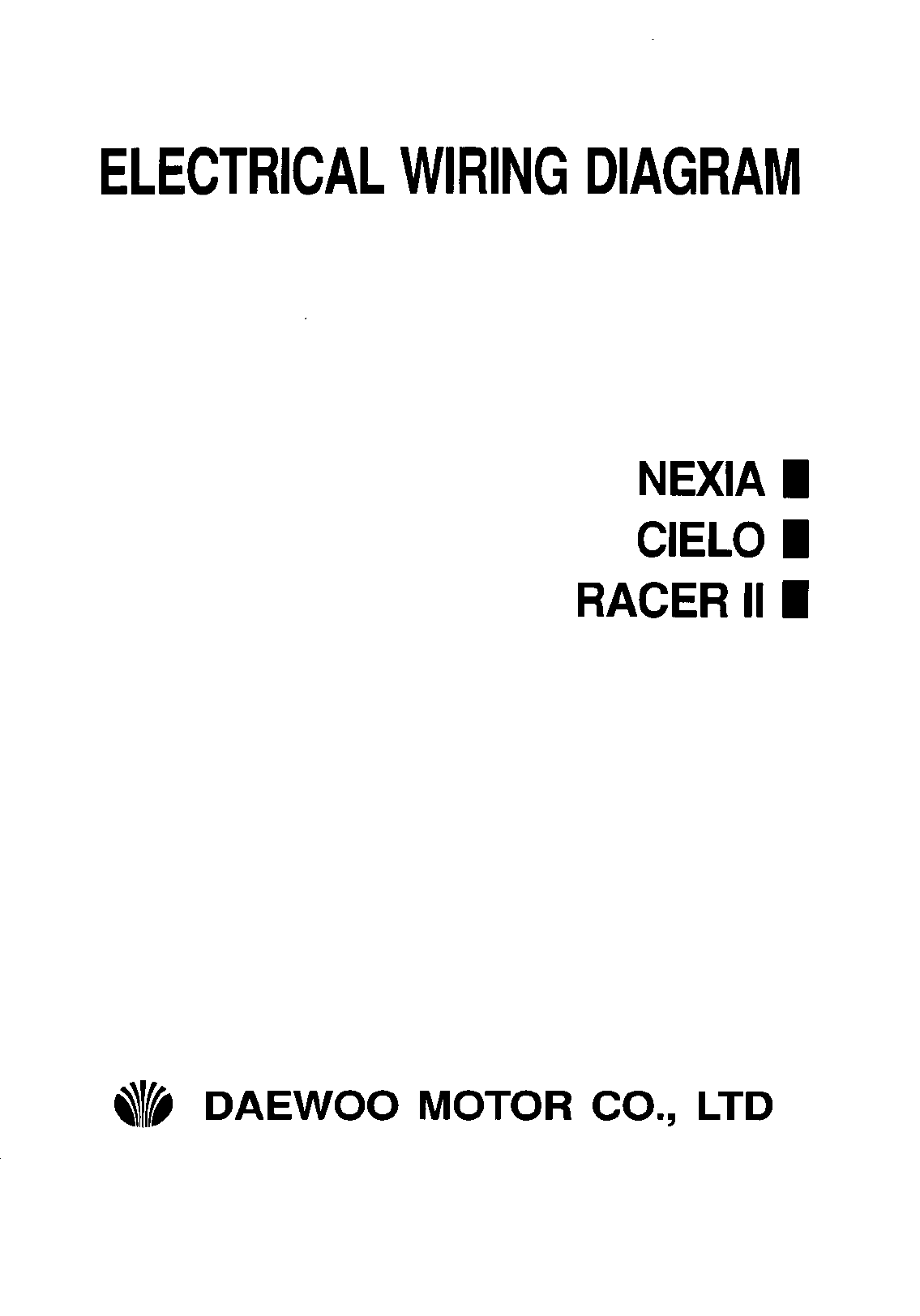 Daewoo Nexia Workshop Manual