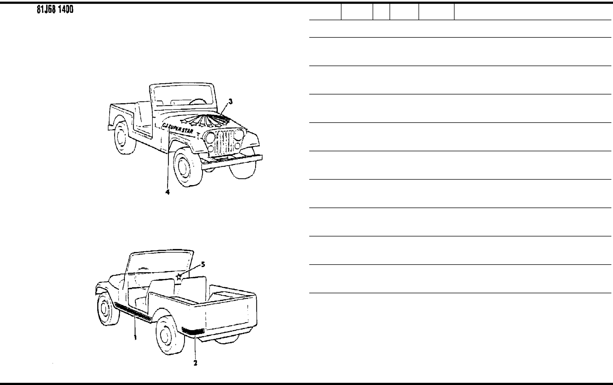 hight resolution of  2006 jeep cherokee 1984 1986 misc doents parts catalogue pdf on jeep cj7 engine wiring harness diagram