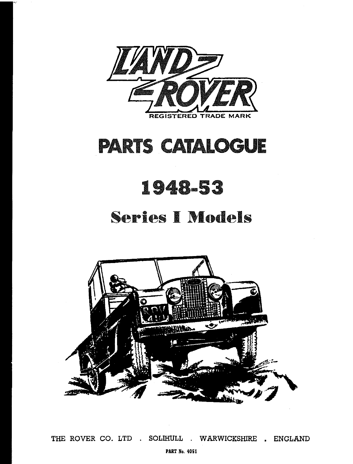 Land Rover Series I 1948 1953 Misc Documents Parts