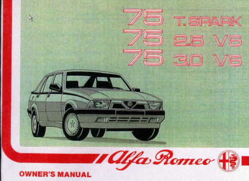 small resolution of alfa 75 owners manual pdf