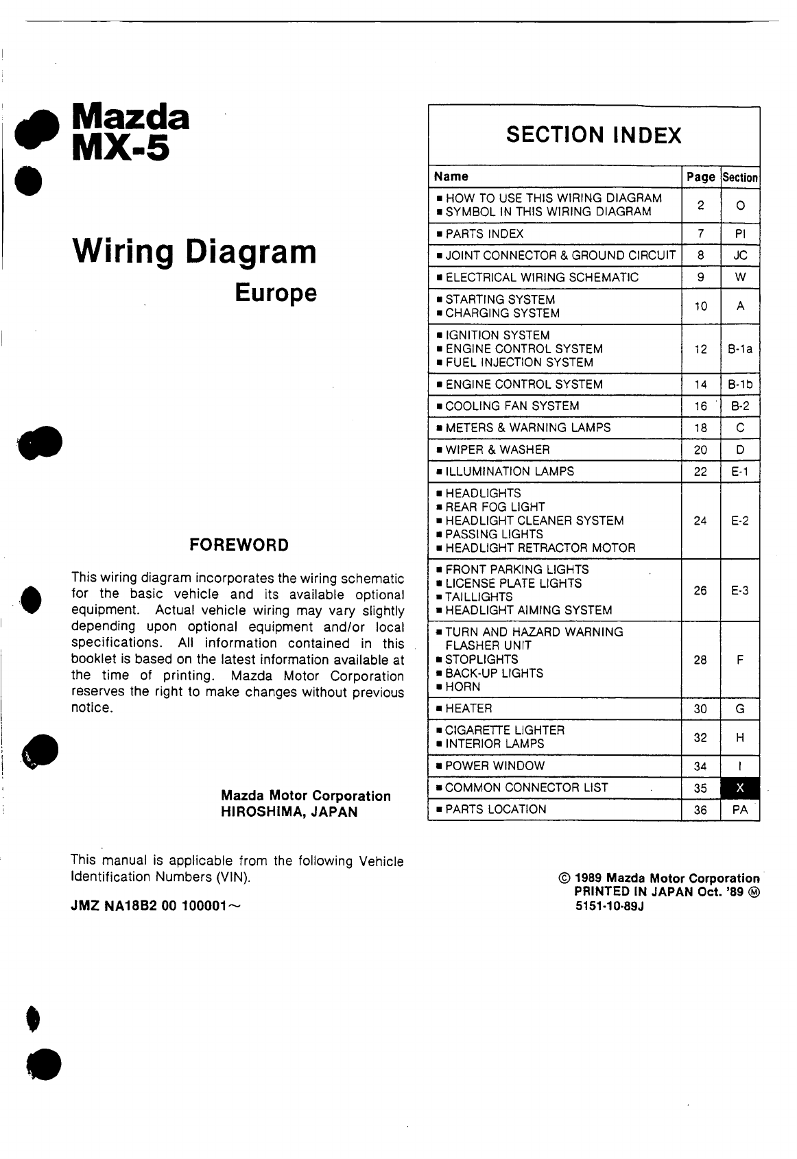 hight resolution of mx 5 wiring diagram pdf