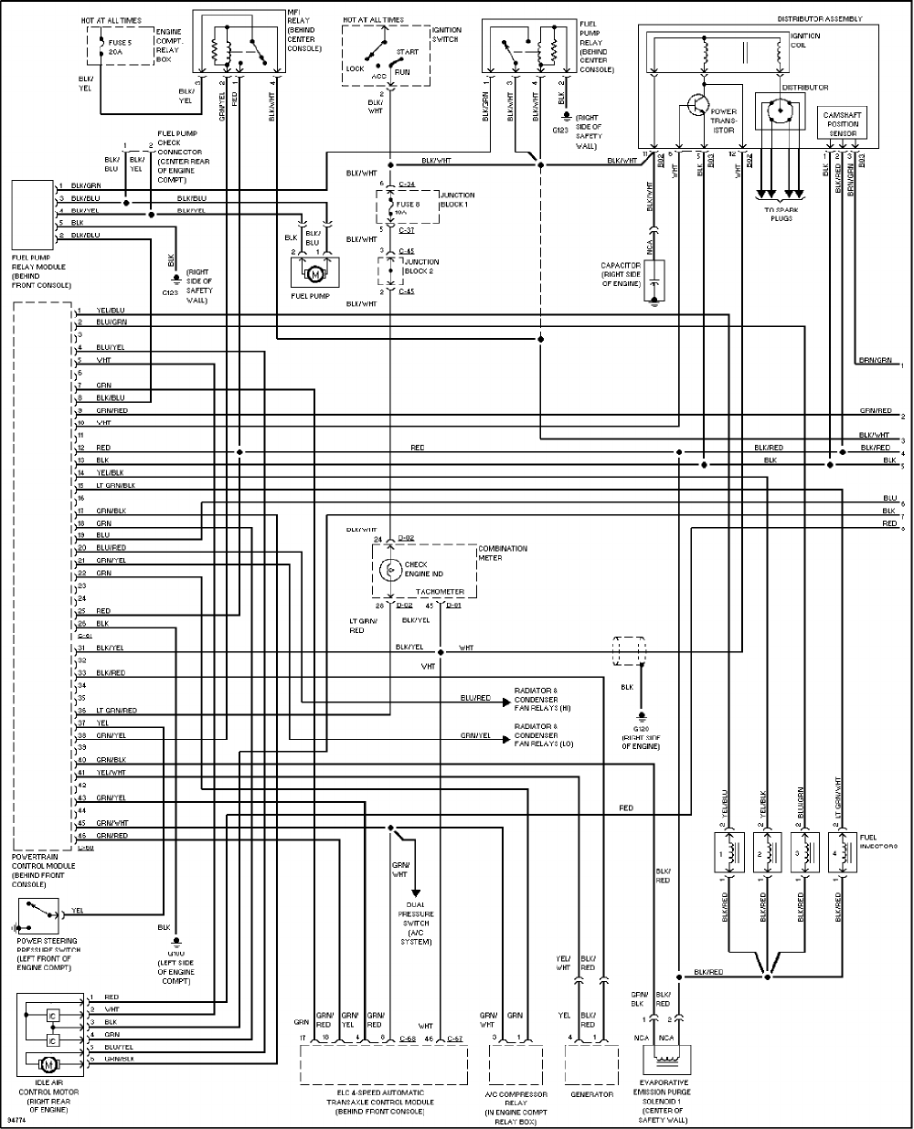 Mitsubishi Galant 1997 Misc. Document Electrical Wiring PDF