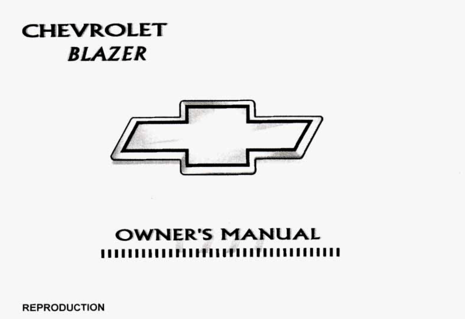 1997 CHEVY BLAZER OWNERS MANUAL PDF